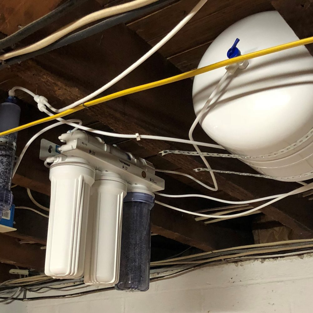 5 stage reverse osmosis system with post limestone filter, installed by CWS in Hatboro 19040